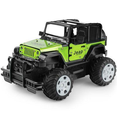 畅销合金版儿童充电动遥控越野车吉普遥控小汽车赛车玩具车 男孩