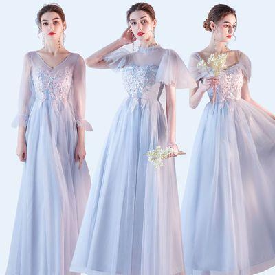 67122/伴娘礼服女2021新款显瘦仙气长裙结婚姐妹裙晚礼服主播直播演出服
