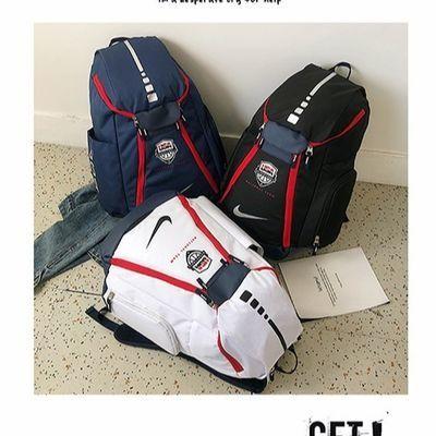 欧文双肩背包usa美国队篮球气垫精英书包学生电脑包旅行包大容量