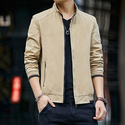 富贵鸟男士外套新款休闲夹克棒球服秋季青年潮流帅气衣服立领上衣