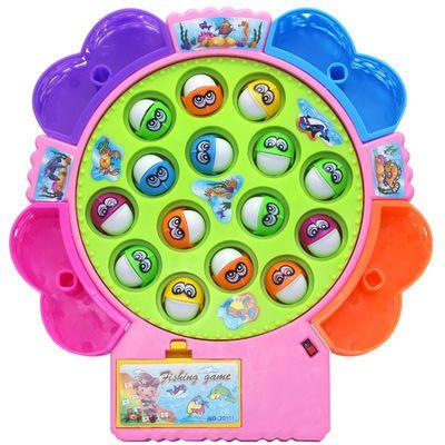 畅销磁性钓鱼玩具 可充电版宝宝早教益智小孩电动钓鱼机鱼池3-6岁