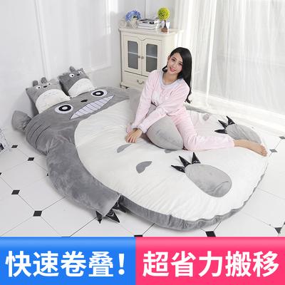 新款龙猫床懒人沙发床单人懒人床卡通榻榻米床垫可爱创意小沙发床