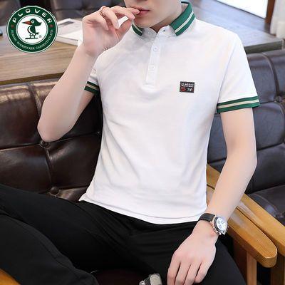 plover啄木鸟夏天男士短袖衬衫T恤带领上衣新款polo衫潮流青年