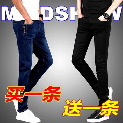 春夏季新款牛仔裤男士修身弹力小脚裤男生休闲韩版潮流长裤子男裤