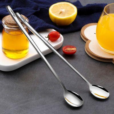 304不锈钢长柄搅拌勺小汤匙调料咖啡勺子加长创意冰勺甜品蜂蜜勺