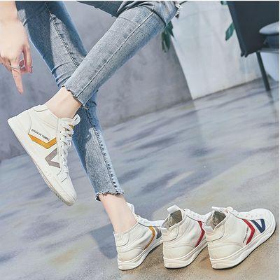 新款新品高帮鞋女春季韩版休闲鞋子运动潮小白鞋百搭平底学生板鞋