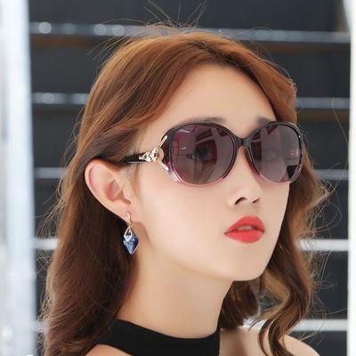 太阳镜女防紫外线2020时尚街拍女士圆脸墨镜韩版潮明星款大脸眼镜