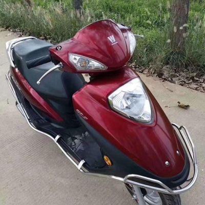 新款国产豪爵宇钻摩托车125cc燃油车二手踏板助力车整车男女通用