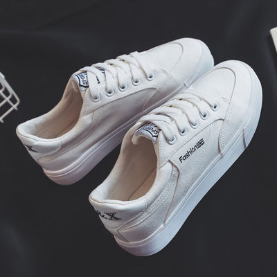 新款新品春季新款小白鞋女学生韩版ins帆布鞋女鞋子百搭休闲平底
