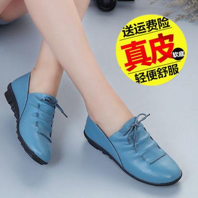 新款新品一脚蹬女鞋平底韩版豆豆鞋懒人鞋单鞋休闲鞋春季新款妈妈