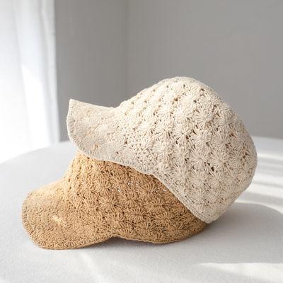 棉线薄款可水洗夏天女士帽子鸭舌帽帅气可爱马术帽夏季出游可折叠