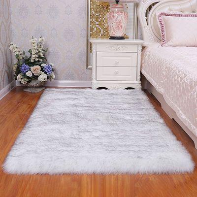新款加厚长毛绒地毯卧室飘窗沙发垫阳台地垫客厅房间床边仿羊毛毯