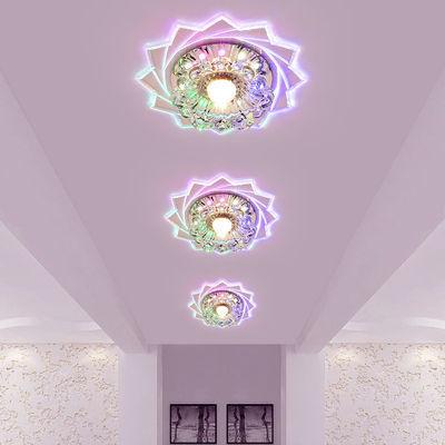 简约过道灯led走廊灯玄关灯射灯水晶客厅天花圆形灯饰灯具吸顶灯
