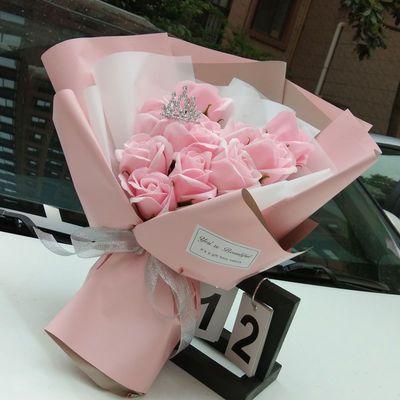 新款520送女友礼物闺蜜生日礼品毕业花束情人节母亲节康乃馨假花