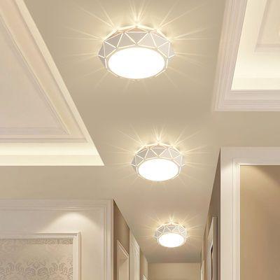 新款LED走廊灯过道灯水晶灯客厅卧室吸顶灯节能射灯筒灯餐厅阳台