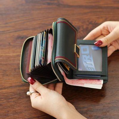 真皮小钱包女短款多卡位钱卡包一体折叠皮夹2020新款时尚牛皮钱夹