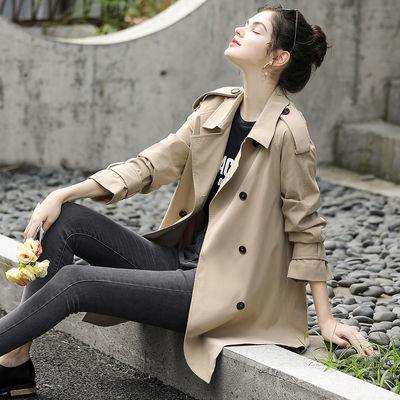 9725/米说卡其色风衣女中长款2021新款潮INS韩版宽松小个子春秋外套
