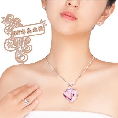 照片DIY定制水晶项链情侣宝宝刻字吊坠创意相片生日礼物送男女友