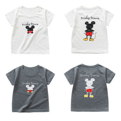 宝宝短袖t恤夏季纯棉婴儿上衣幼儿童短袖T恤男童女童打底半袖夏装