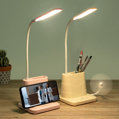 LED暖光充电宝阅读护眼学习触摸台灯少女心学生宿舍卧室USB床头灯