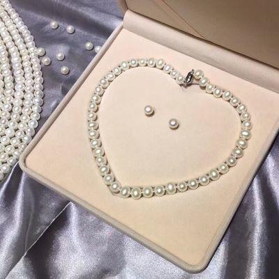 特价高档礼盒 天然珍珠项链 母亲节送礼 妈妈的礼物 送高端包装盒