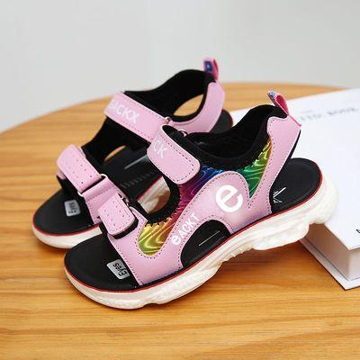 女童凉鞋夏季女孩凉鞋儿童2020中大童沙滩鞋女生软底防滑运动凉鞋