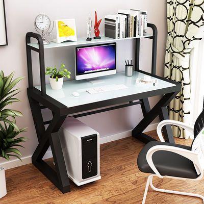 2020新款电脑桌台式桌现代简约办公桌书桌书架组合经济型学生学习