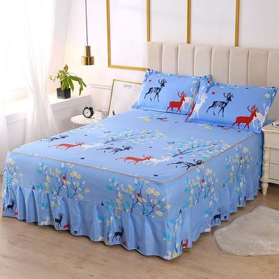 【韩版防滑床裙】单件床裙床罩床围席梦思床保护套