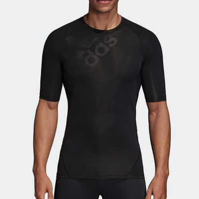 阿迪达斯健身衣男夏季短袖透气半袖紧身T恤跑步训练速干运动上衣