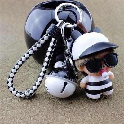 可爱卡通蒙奇奇钥匙链韩国情侣钥匙扣女士男款汽车钥匙圈包包挂件