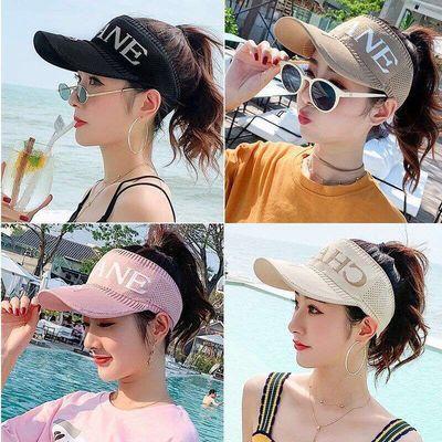 帽子女夏季空顶帽韩版百搭新款防晒太阳帽鸭舌帽学生户外遮阳帽女
