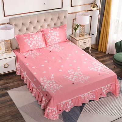 纯棉床裙单件蕾丝花边公主风双人100%全棉床罩床笠床垫防滑保护套
