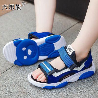 男童凉鞋2020夏季新款中大童防滑小学生小孩沙滩鞋网红小熊鞋帅气