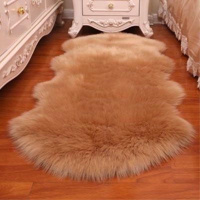2020新款仿羊毛四季长毛绒地毯床边毯客厅卧室满铺榻榻米茶几地垫