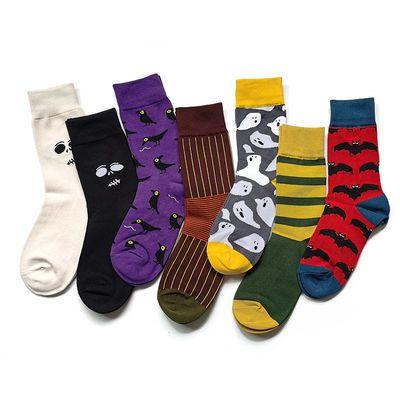 ins潮流学生中长筒袜子男士韩版高筒纯棉袜子女运动情侣袜子潮袜