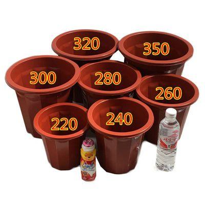 1-10个装塑料花盆十二角花盆送托盘加厚加高种花种菜多肉园艺花盆