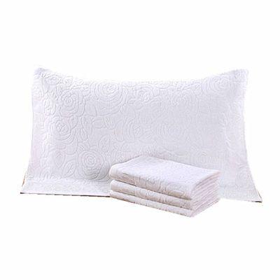 新款新品枕巾一对纯棉纯色提花毛巾料老式毛圈枕头巾白色成人酒店