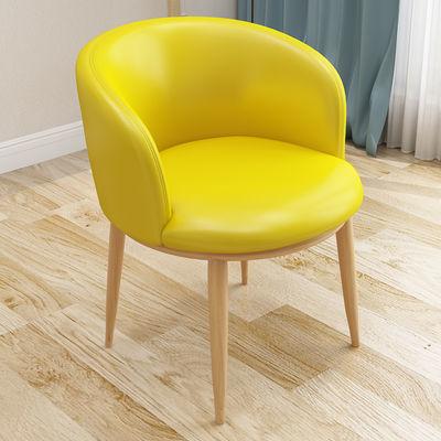 新款新品北欧风椅子现代简约书桌椅创意网红电脑化妆凳子靠背家用