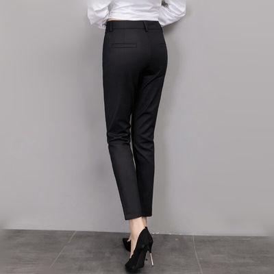 黑色女九分裤韩版显瘦9分小脚休闲裤西裤女裤子