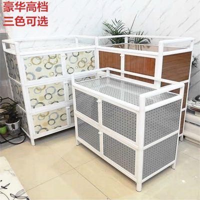 2020新款1/2/3/4层铝合金碗柜子厨房简易组装多功能菜柜茶水柜储
