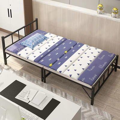 折叠床单人双人午休办公室午睡简易便携家用成人陪护租房木板铁床