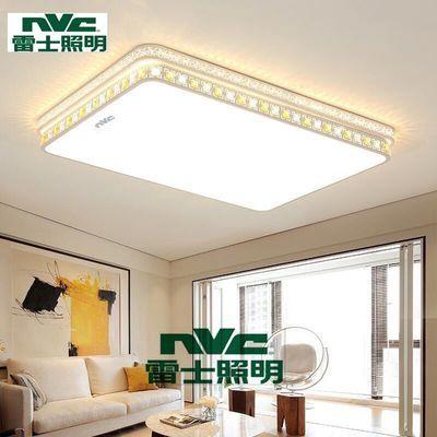 雷士照明LED吸顶灯大厅客厅灯大气圆形水晶灯卧室灯现代简约灯具