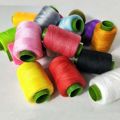 家用针线手缝缝纫机线宝塔线小卷302线黑色白色手工缝衣服线单卷