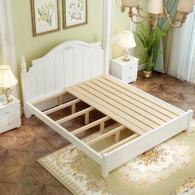 2020新款实木床1.5米韩式床现代主卧公主床田园风格双人床1.8简约
