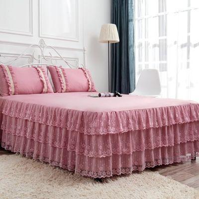 韩版夏季床单三层席梦思床罩蕾丝公主床裙单件1.2米1.5米1.8m2.0