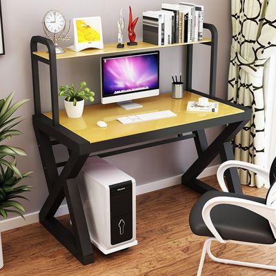 新款新品电脑桌台式桌现代简约办公桌书桌书架组合经济型学生学习
