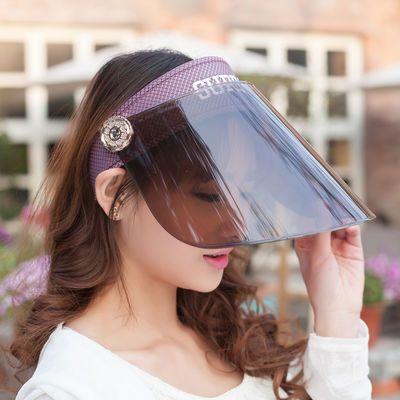 【送防风绳】骑车遮阳帽女士夏天太阳帽防晒帽子遮防紫外线电动车