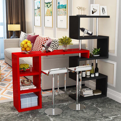 2020新款家用吧台桌酒柜客厅隔断柜欧式旋转玄关门厅柜简约现代小