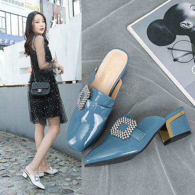 穆勒拖鞋女夏外穿2020新款网红学生韩版包头半拖百搭懒人拖鞋女