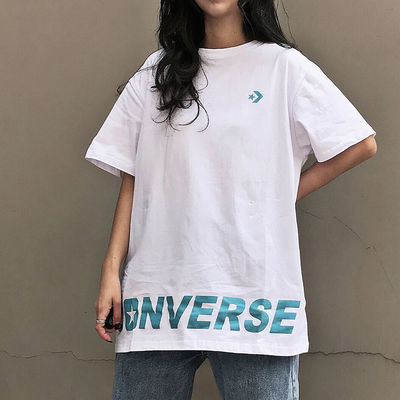 夏季新款韩版下衣失踪字母印花宽松BF风嘻哈oversize短袖t恤女潮